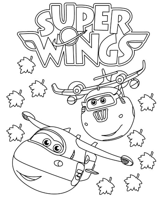 Super Wings colorear